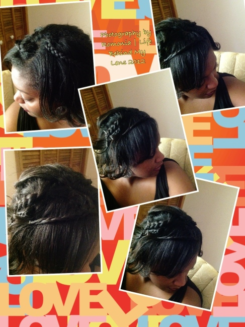 Image of my crazy creation that turned out cute!  Pinning and braiding your hair is so needed for summertime in Texas